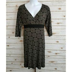 Ann Taylor Loft Womens 16 Stretchy Black Dress